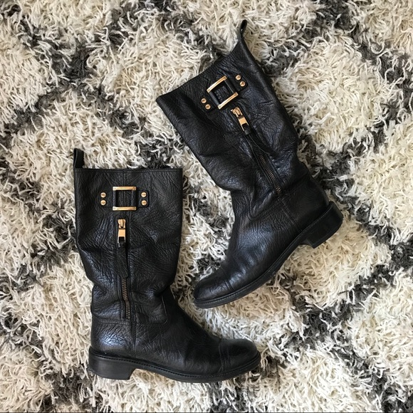 aa80e993cd0 Tory Burch Stowe Moto boots black leather. M 5b5e10d874359b23f4b9ae61